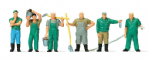 Merten 0212559 Scale: 1:87, HO Zoo Keepers (6) Figure Set
